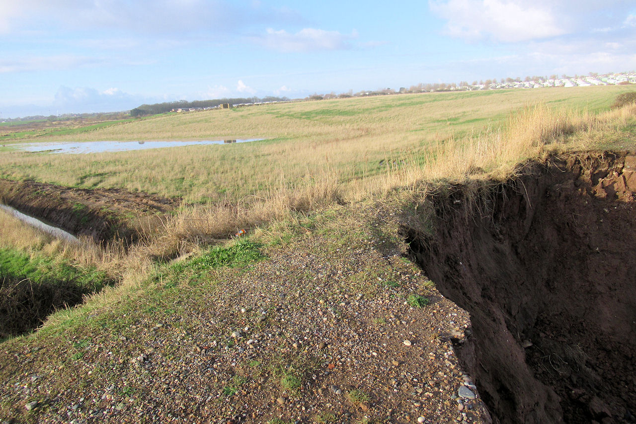 Sea defences at Sand Le Mere