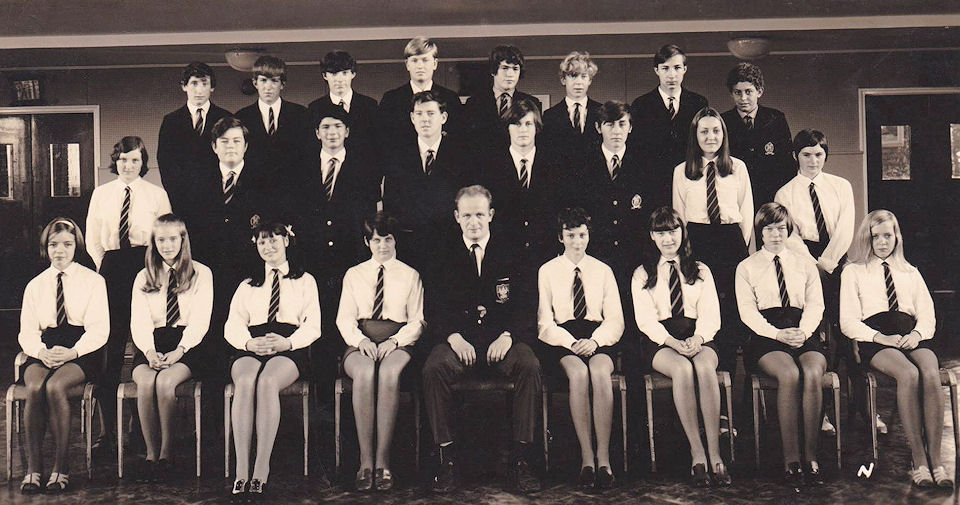 Withernsea High School 1970 Mr Wards class