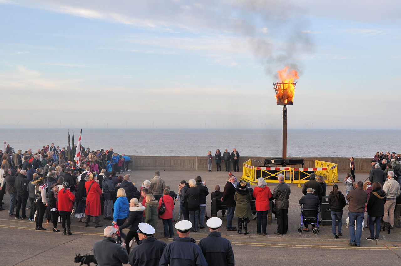 The beacon for the Queens 90th birthday 21st April 2016
