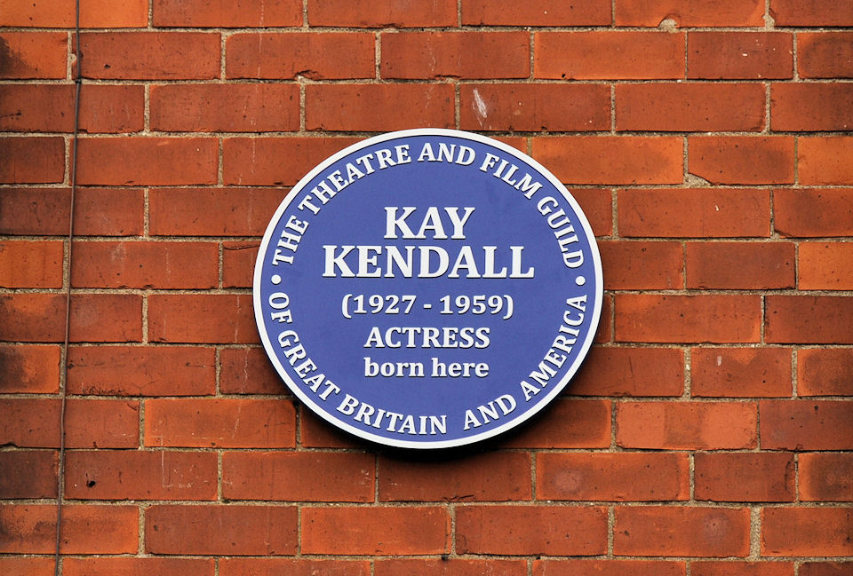 Kay Kendall  commemorative plaque