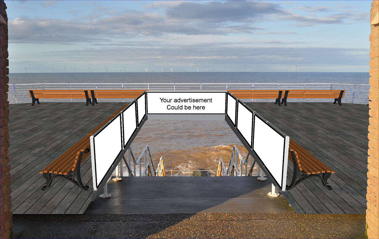 Withernsea Pier Advertising Banners