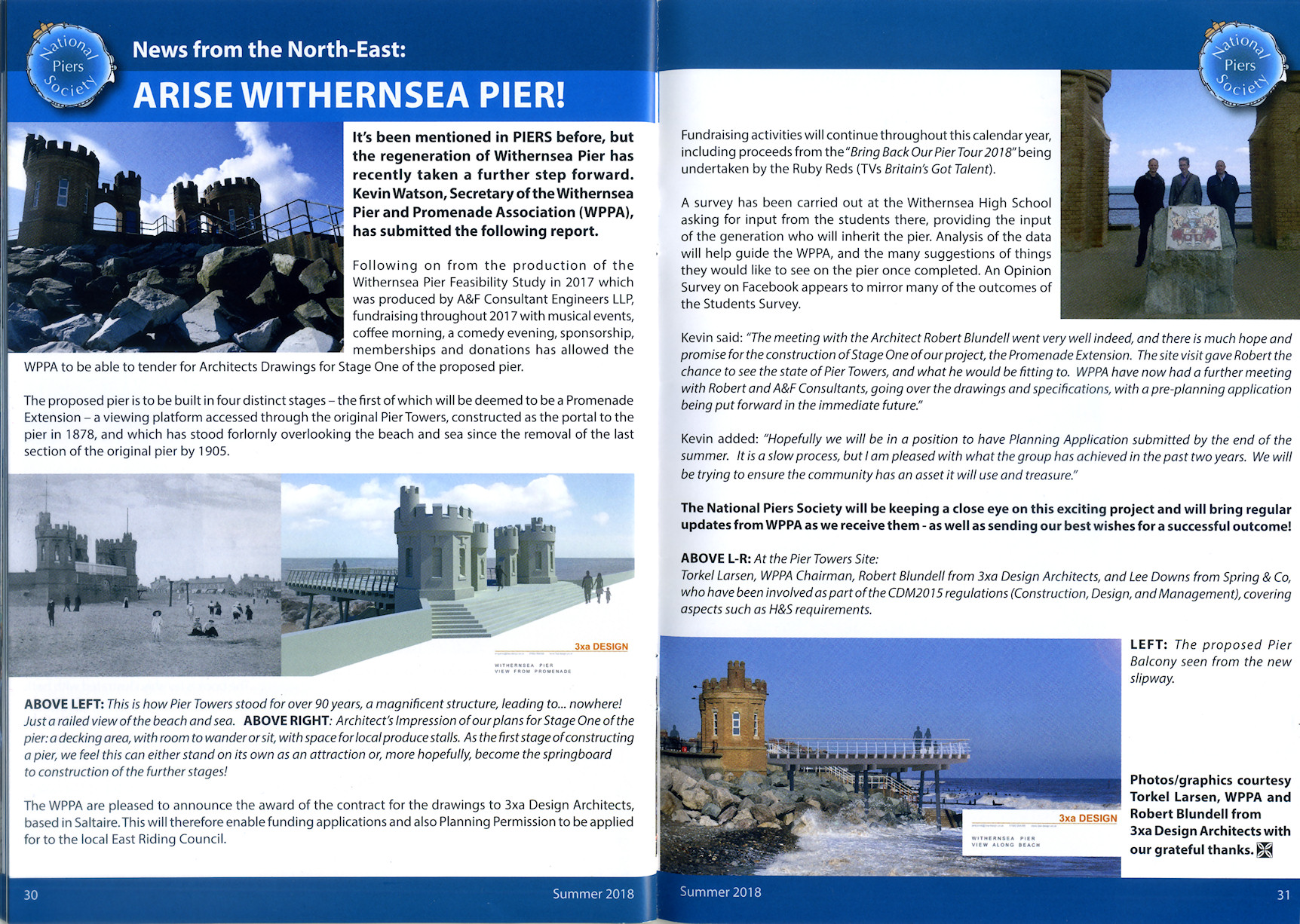 Withersea Pier Press Coverage, National Pier Society