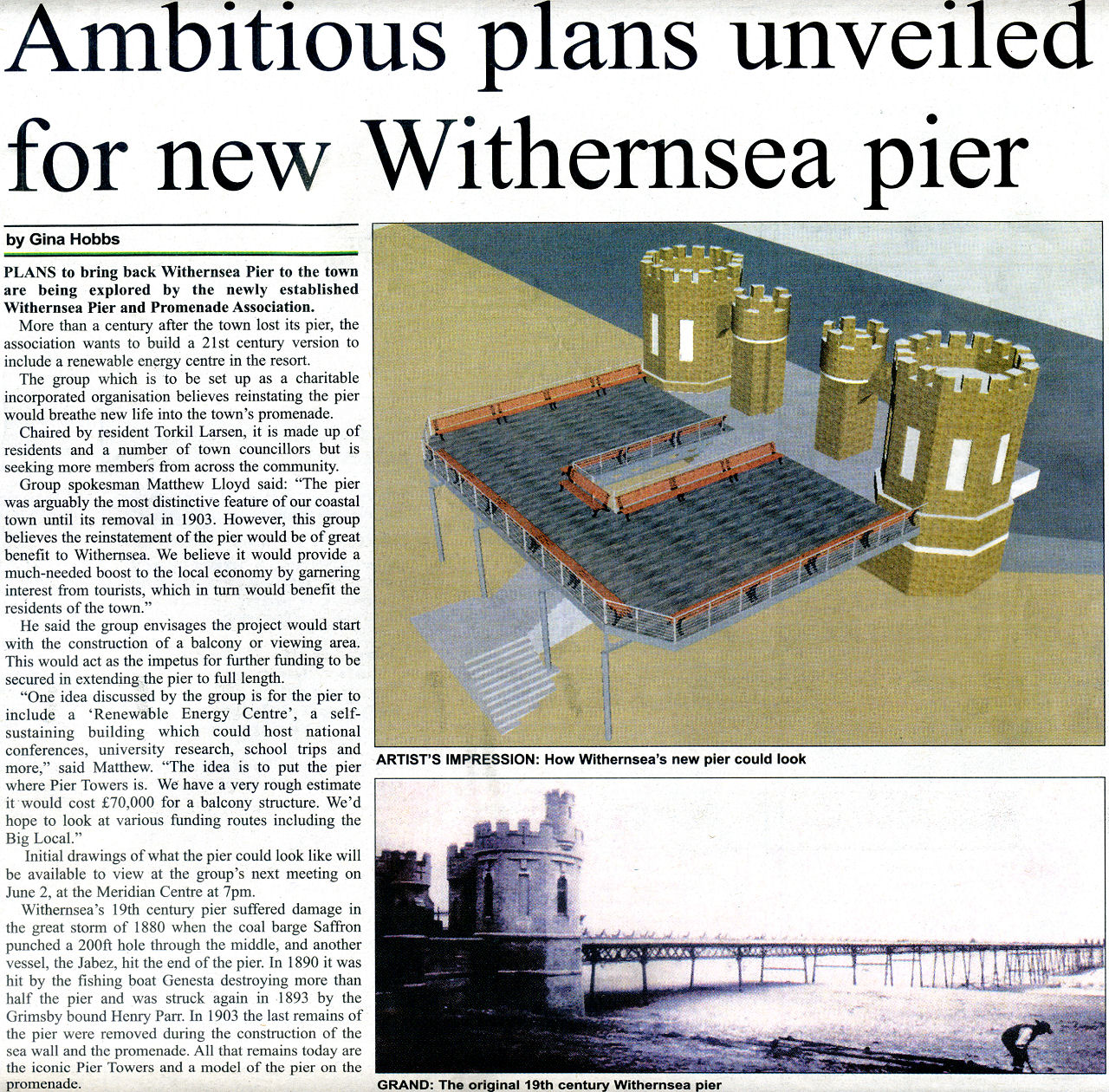 Withernsea Pier In Holderness Gazette