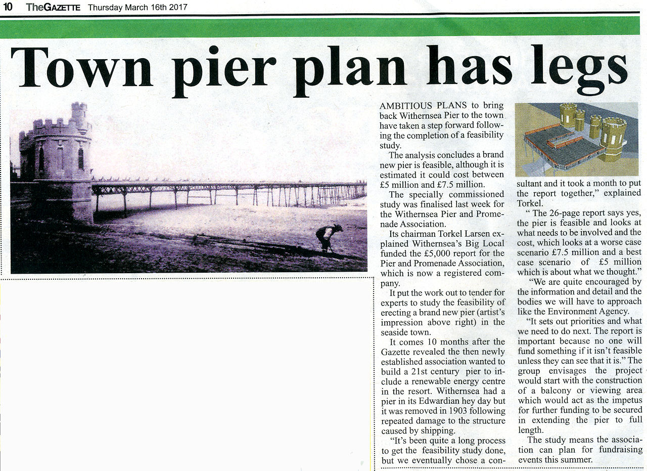 Pier press coverage Holderness Gazette March 16th 2017