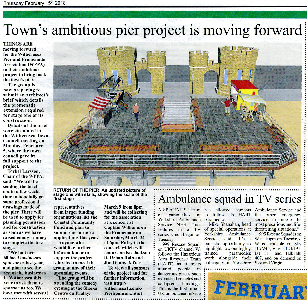 Press coverage Holderness Gazette Feb 2018