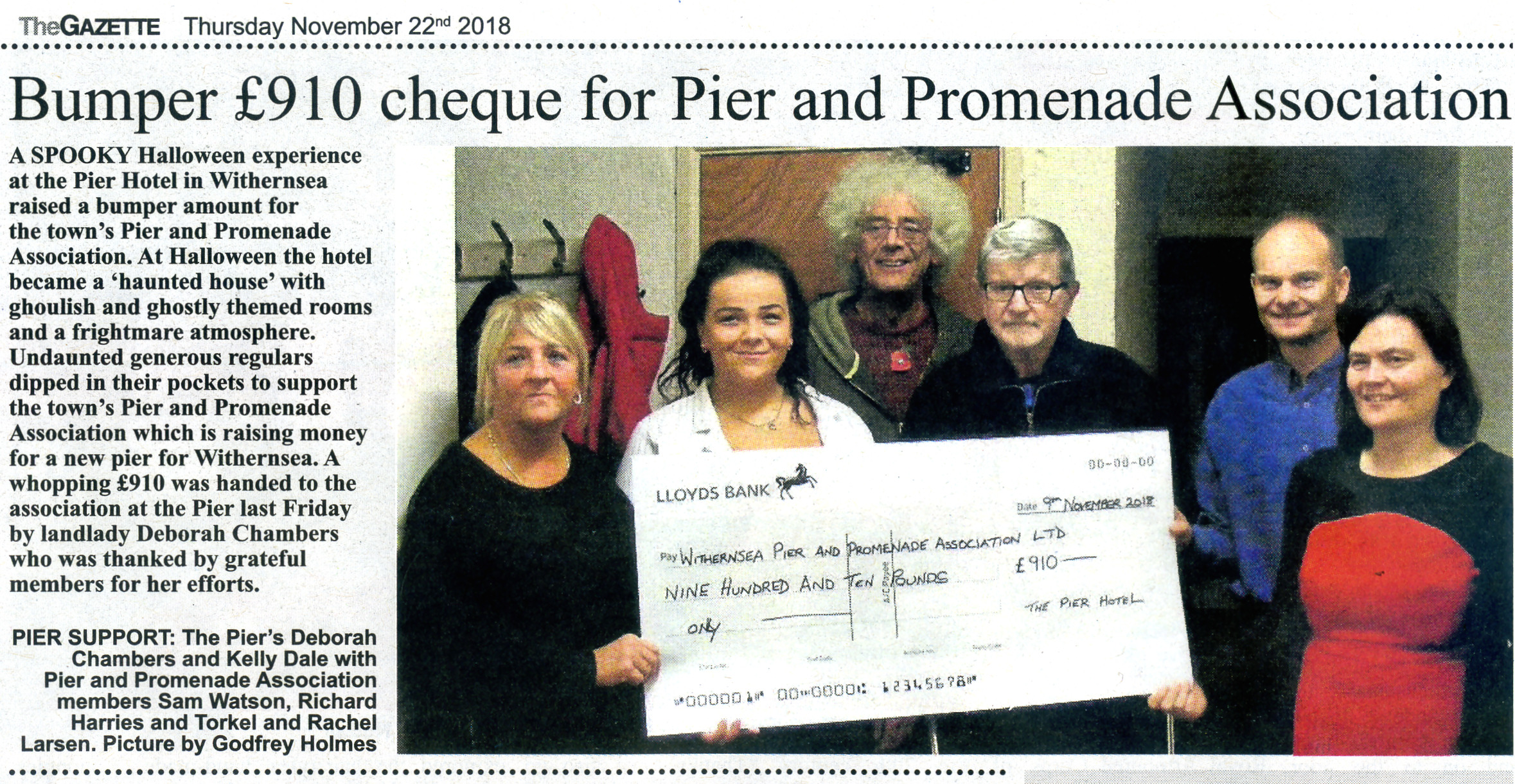 Withernsea Pier article in the Holderness Gazette