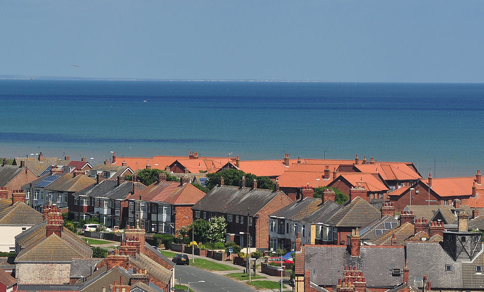 View from the top of Withernsea Lighthouse