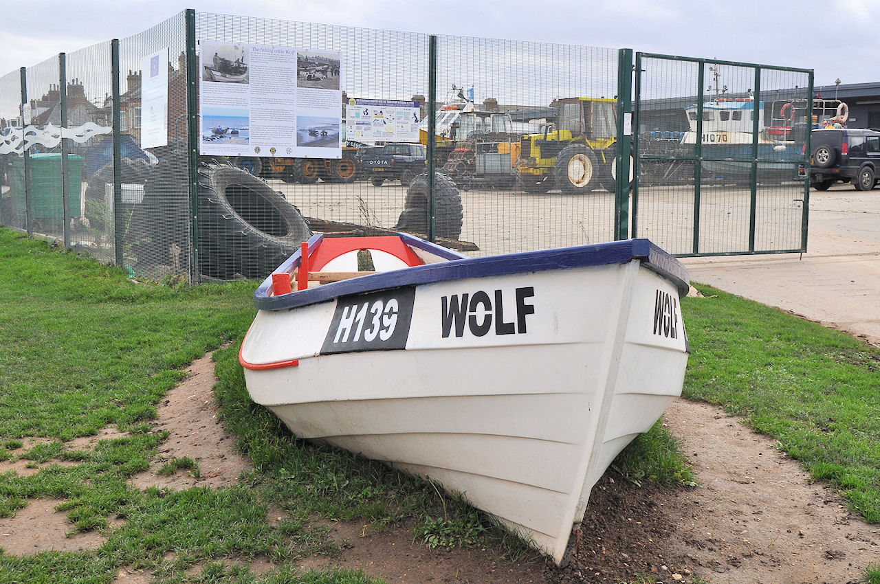 The Fishing coble Wolf, Withernsea
