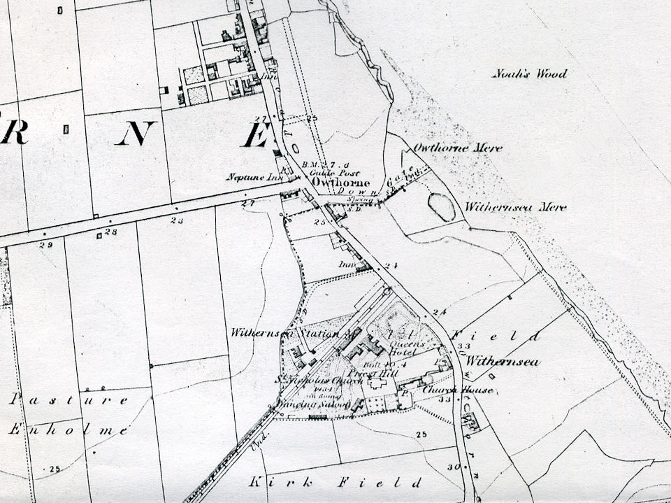 Map of Withernsea 1856