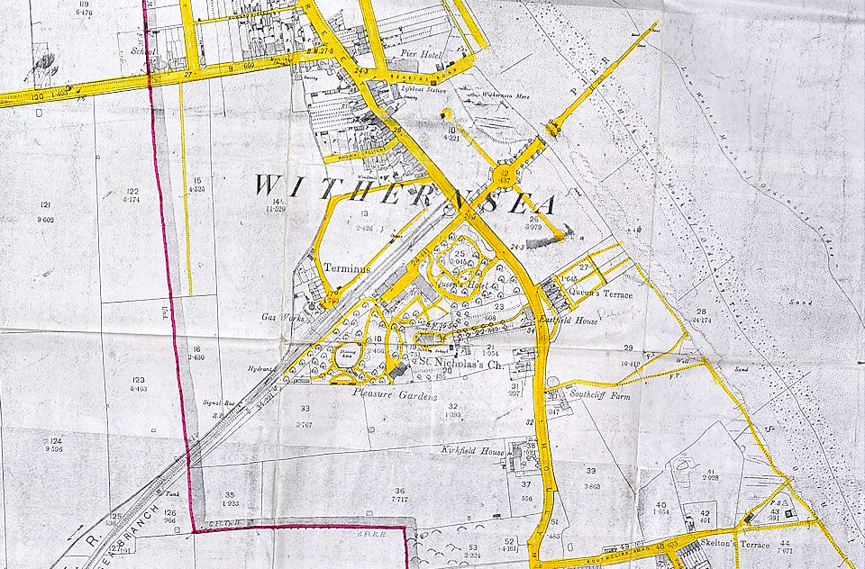 Map of Withernsea 1890