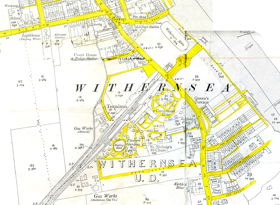 Map of Withernsea 1910