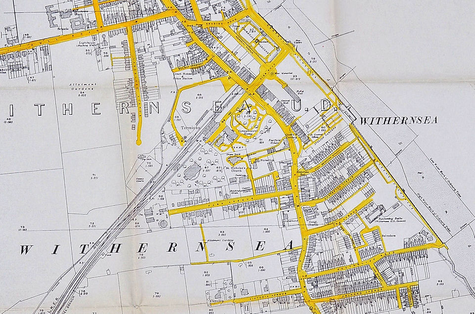 Map of Withernsea 1927