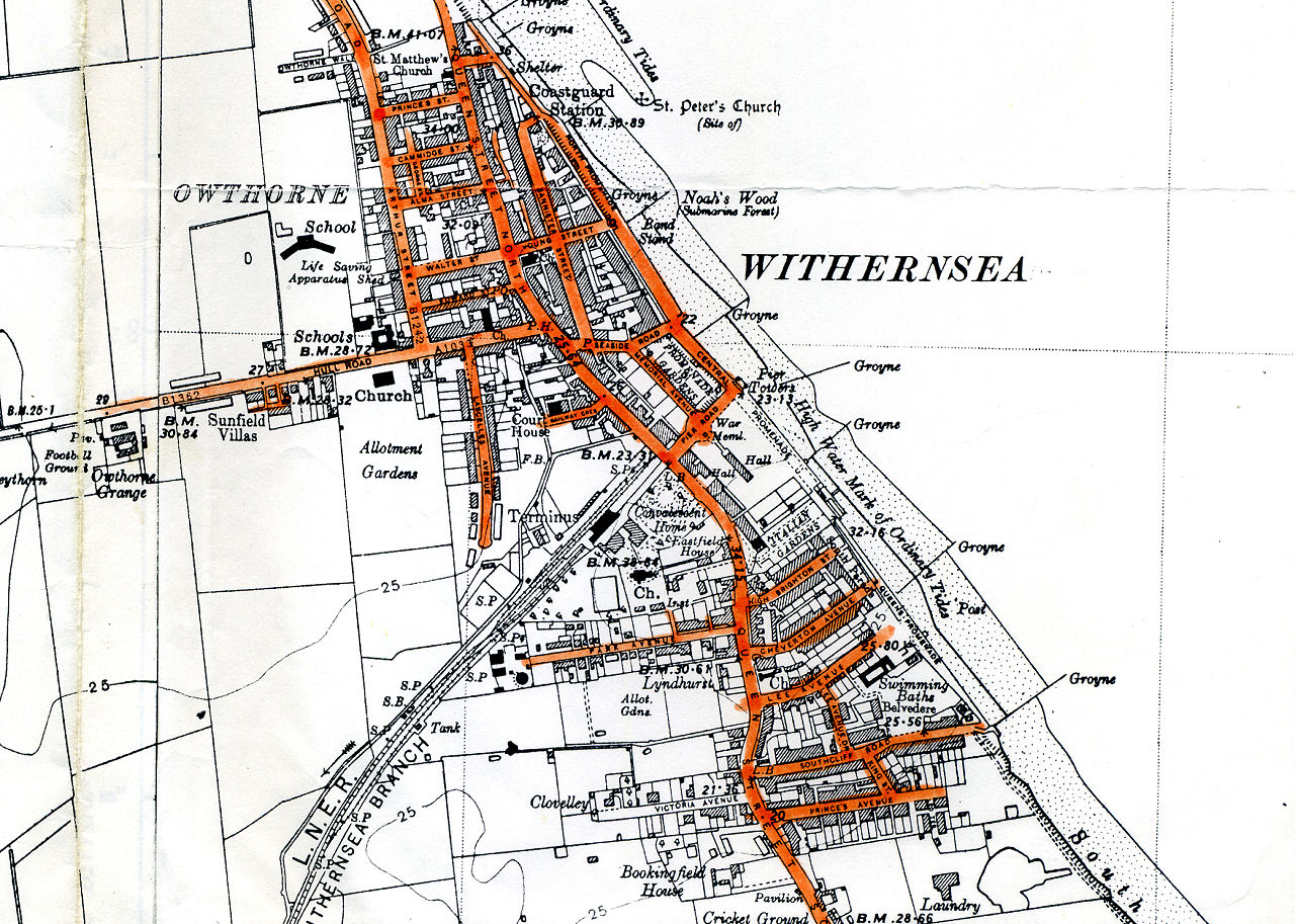Map of Withernsea 1938