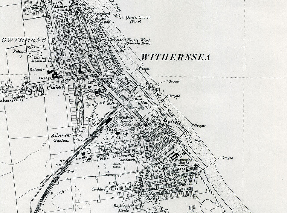 Map of Withernsea in 1946