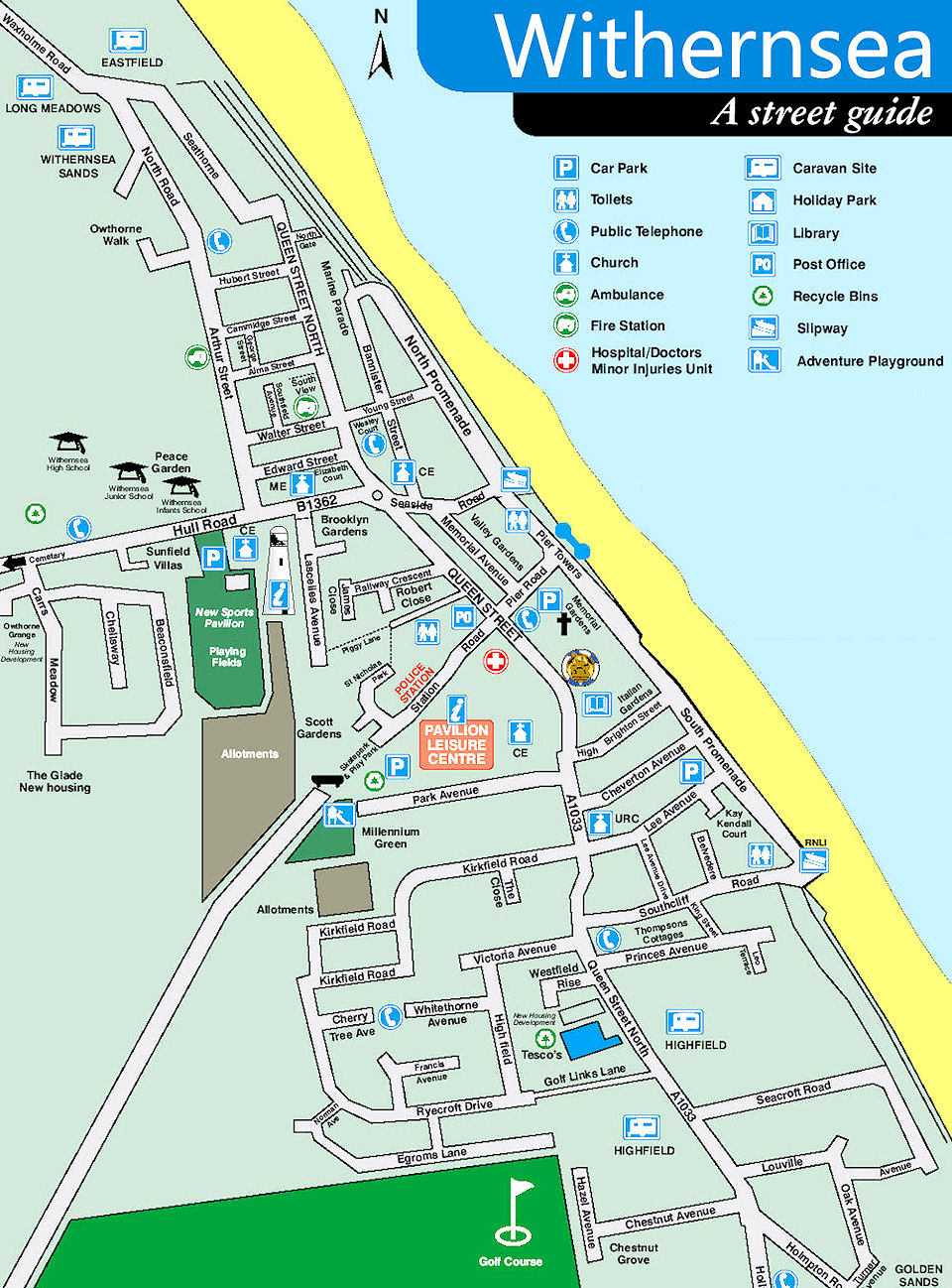 Street Map of Withernsea
