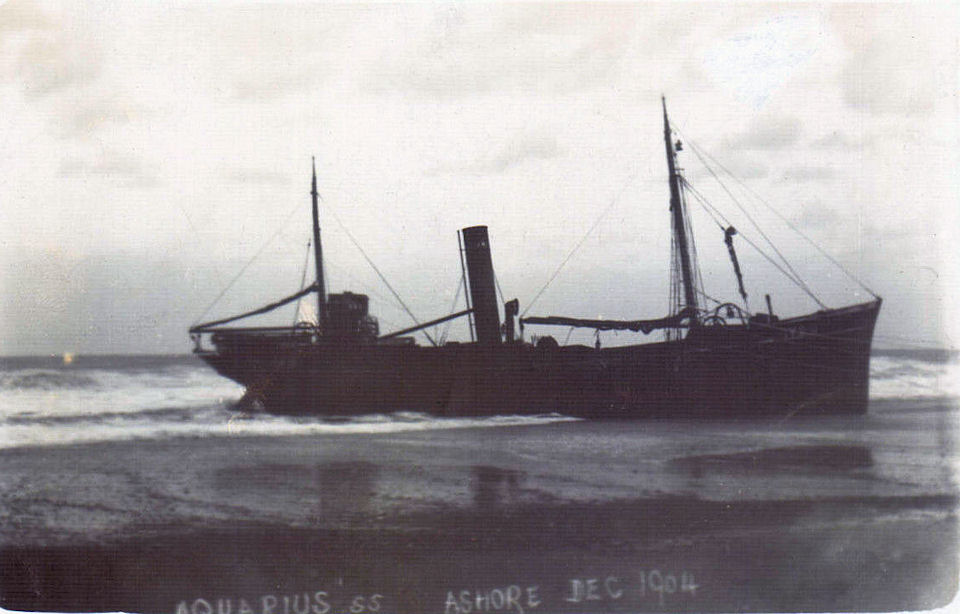 SS Aquarius ashore at Withernsea