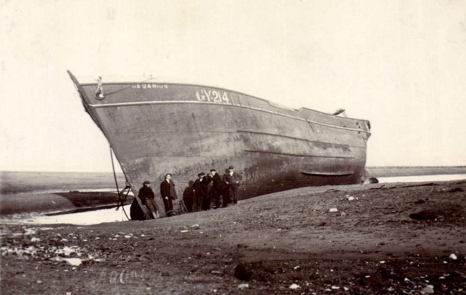 Aquarius ashore at Withernsea