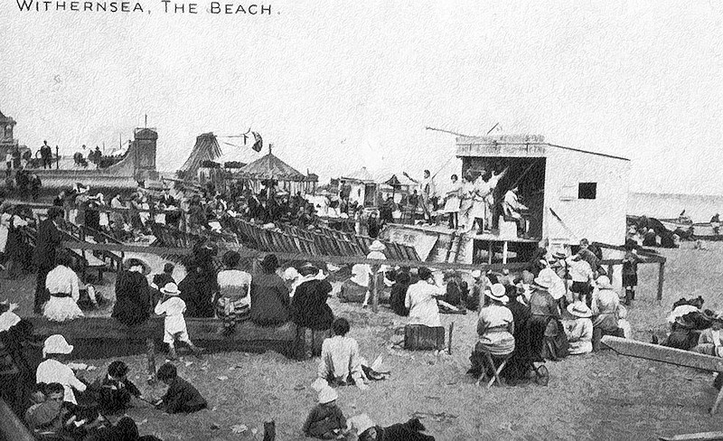 Postcard of Withernsea beach