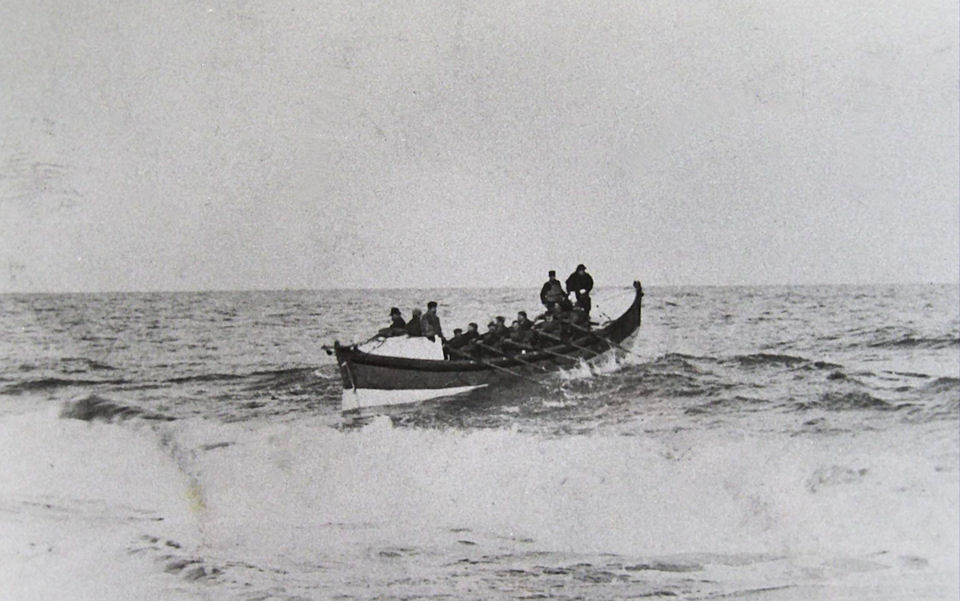 The Withernsea Lifeboat at sea