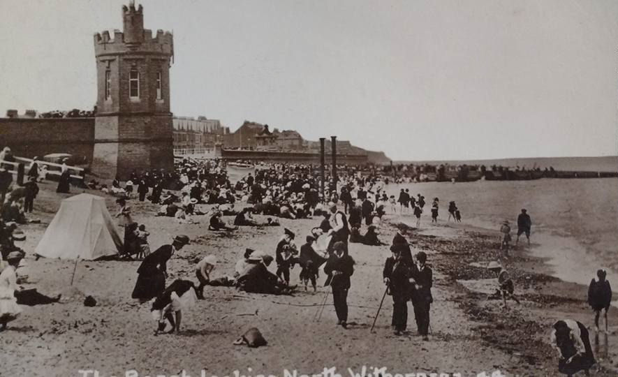 Withernsea Pier Towers and Beach