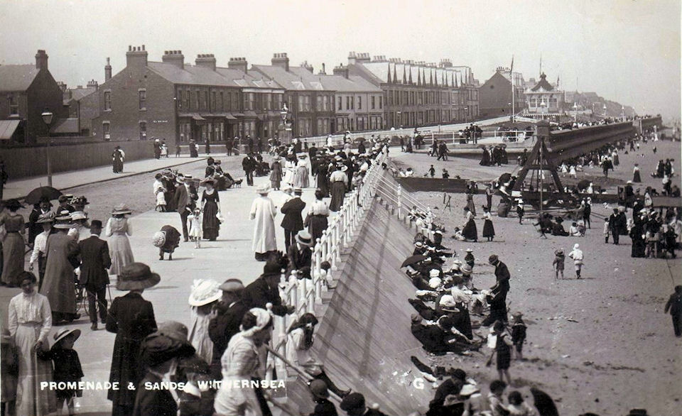 Withernsea Beach and promenade 1915