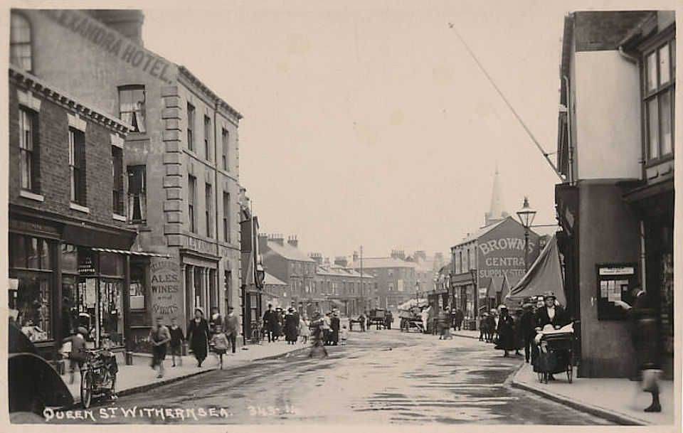 Queen Street and Alexandra Hotel Withernsea
