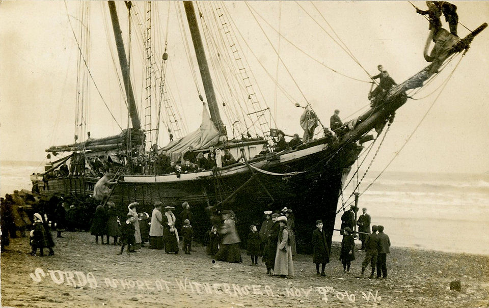 S.Urda Ashore at Withernsea 1906