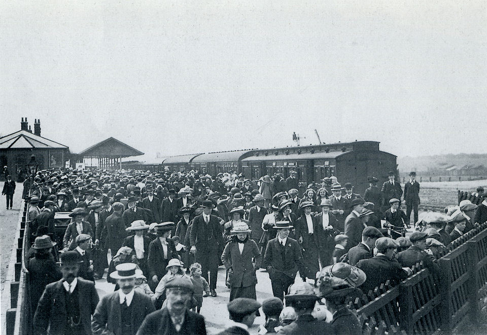 The Arrival of Trippers at Withernsea Train Station